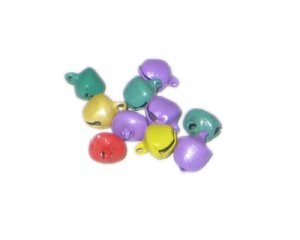 8 x 10mm Random Color Metal Bell - 10 Bells
