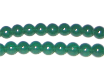 8mm Hunter Green Jade-Style Glass Bead, approx. 77 beads - Click Image to Close