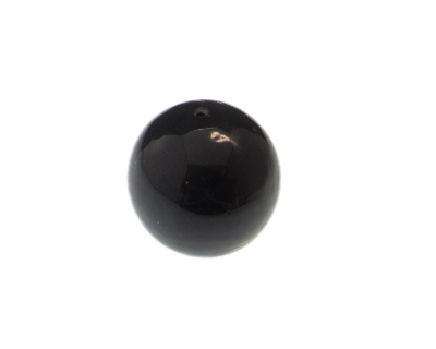 28mm Black Ball Lampwork Glass Bead