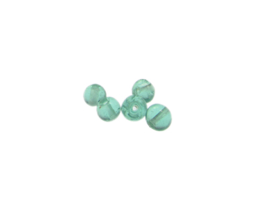 6mm Pale Aqua Lampwork Glass Bead, 5 beads