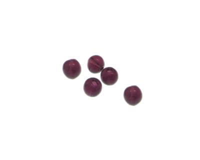 6 beads approx 18 x 14mm Plum Vintage-Style Polygon Glass Bead