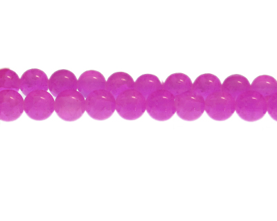 10mm Magenta Gemstone-Style Glass Bead, approx. 22 beads