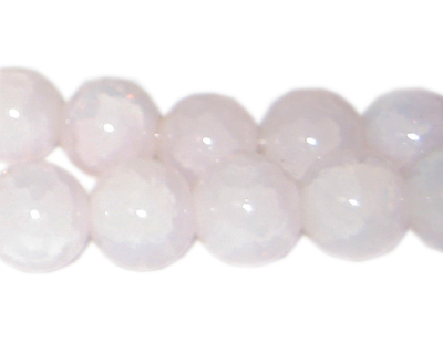 12mm Rose Quartz-Style Glass Bead, approx. 18 beads - Click Image to Close