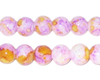 10mm Marbled Purple Coated Glass Bead