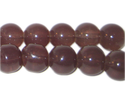 12mm Brown Jade-Style Glass Bead, approx. 18 beads