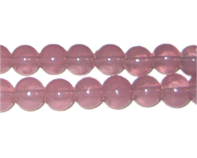 10mm Mallow Jade-Style Glass Bead, approx. 21 beads