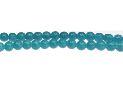 8mm Marine Jade-Style Glass Bead, approx. 55 beads