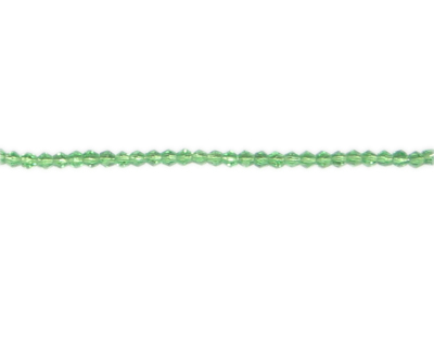 "3mm Light Green Bi-cone Glass Bead, 2 x 12"" strings"