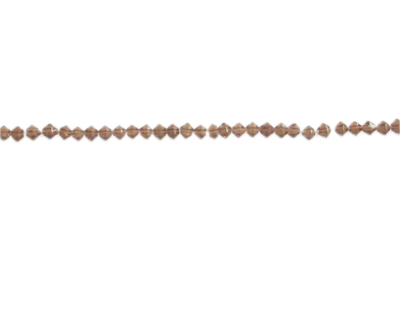 "3mm Brown Faceted Bi-cone Glass Bead, 2 x 12"" strings"