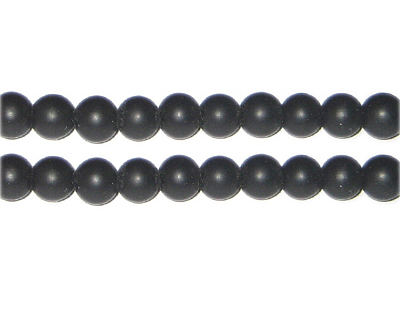 8mm Black Onyx Gemstone Bead, approx. 50 beads