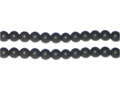 6mm Black Onyx Gemstone Bead, approx. 65 beads