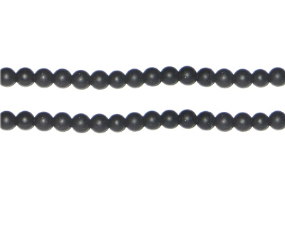 4mm Black Onyx Gemstone Bead, approx. 100 beads