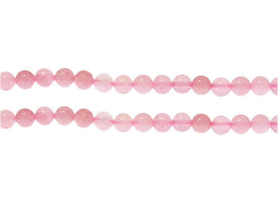 6mm Rose Quartz Gemstone Bead, approx. 31 beads