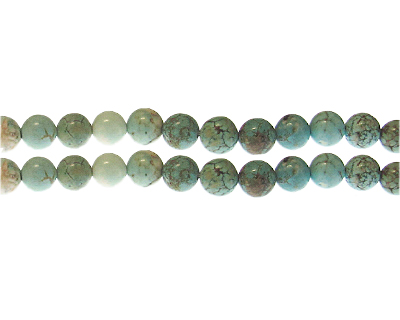 8mm Turquoise Gemstone Bead, approx. 25 beads
