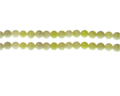 6mm Light Green Gemstone Bead, approx. 33 beads