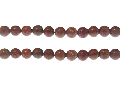8mm Brown Gemstone Bead, approx. 19 beads