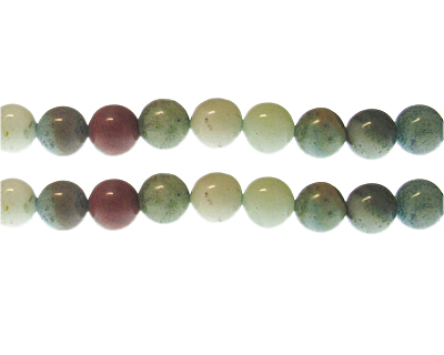 10mm Color Amazonite Gemstone Bead, approx. 19 beads