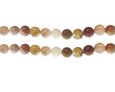 8mm Mixed Gemstone Bead, approx. 23 beads
