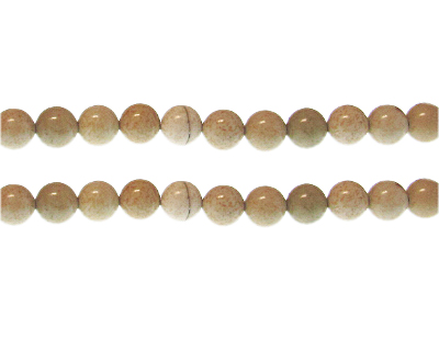 8mm Cream Gemstone Bead, approx. 24 beads