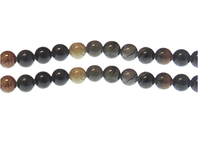 8mm Jasper Gemstone Bead, approx. 24 beads