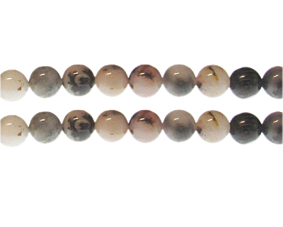 10mm Mixed Gemstone Bead, approx. 19 beads