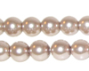 "10mm Round Mink Glass Pearl Bead, 8"" string"