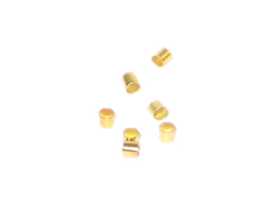 3mm Gold-Coated Crimp Tubes - approx. 500 tubes
