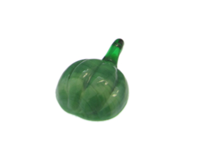 40 x 28mm Green Pumpkin Glass Pendant