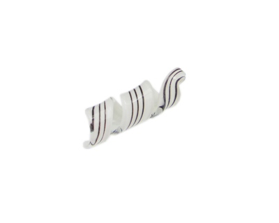 54 x 12mm White Striped Spiral Glass Pendant