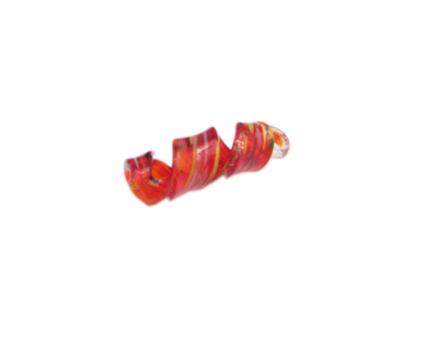 54 x 12mm Red Splash Spiral Glass Pendant