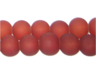 12mm Red Sea/Beach-Style Glass Bead, approx. 18 beads