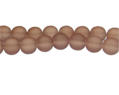 12mm Dark Brown Sea/Beach-Style Glass Bead, approx. 18 beads