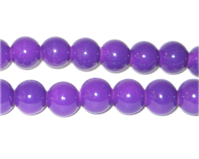 10mm Purple Team and School Glass Bead, approx. 22 beads