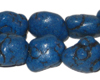 10 - 20mm Dyed Blue Turquoise Bead Nuggets