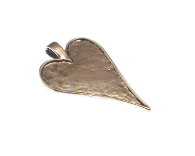 48 x 34mm Heart Silver Metal Pendant