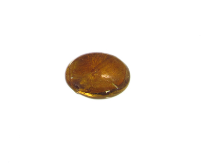 28mm Gold Foil Lampwork Glass Bead