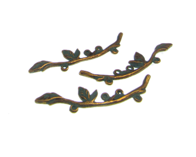 48 x 10mm Branch Petina Metal Charm, 3 charms