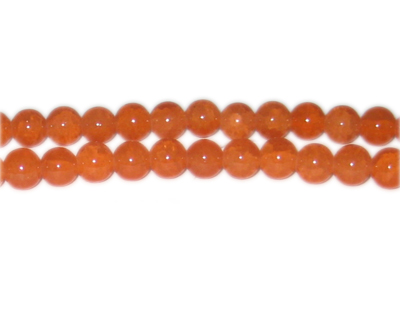 8mm Deep Carnelian-Style Glass Bead, approx. 53 beads - Click Image to Close