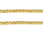 4mm Gold Round Stardust Brass Bead, approx. 50 beads