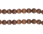 "6mm Dark Brown Cat's Eye Bead - 5"" String, approx. 25 beads"