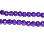 6mm Drizzled Violet Glass Bead, approx. 48 beads - Click Image to Close