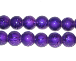 8mm Drizzled Violet Glass Bead, approx. 37 beads