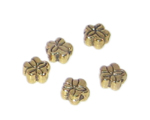 6mm Gold Metal Spacer Bead, 15 beads
