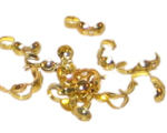 8mm Gold-Coated Crimp Cover with Loop - approx. 100